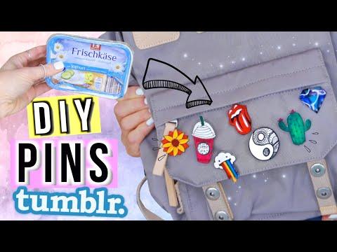 DIY PINS Für BACK TO SCHOOL 2020 🌵Tumblr Pins DIY ✨ Cali Kessy