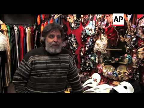 Foreign competition making life difficult for Venice carnival mask makers