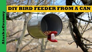 Make A Bird Feeder From An Empty Can