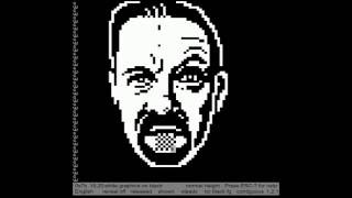 David Brent in Teletext Graphics