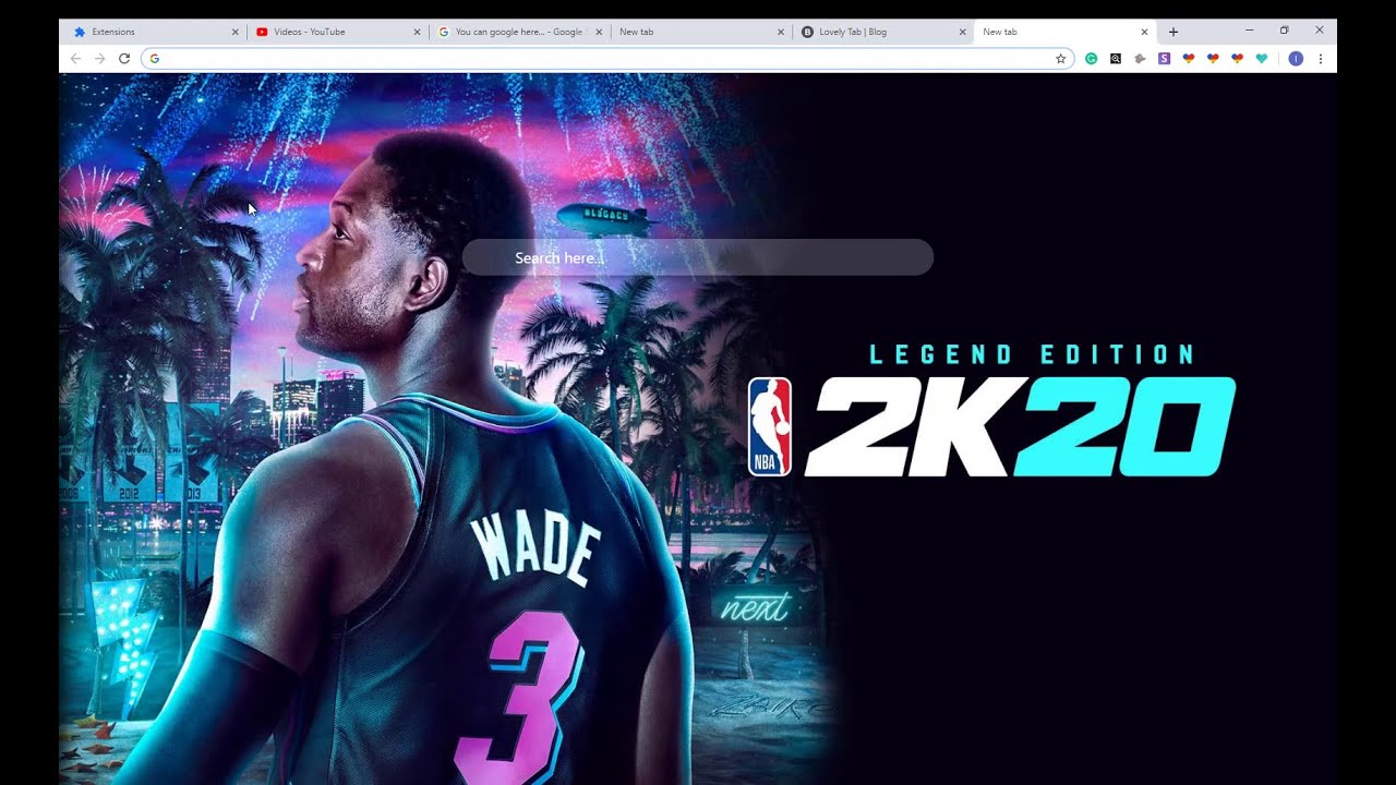 Best Nba 2k20 Hd Wallpaper New Tab Chrome Theme For Fans