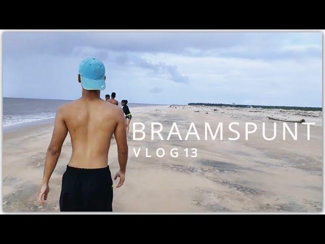 ZWEMMEN IN ZOUT ZEEWATER VAN BRAAMSPUNT   SURINAME - Vlog 13