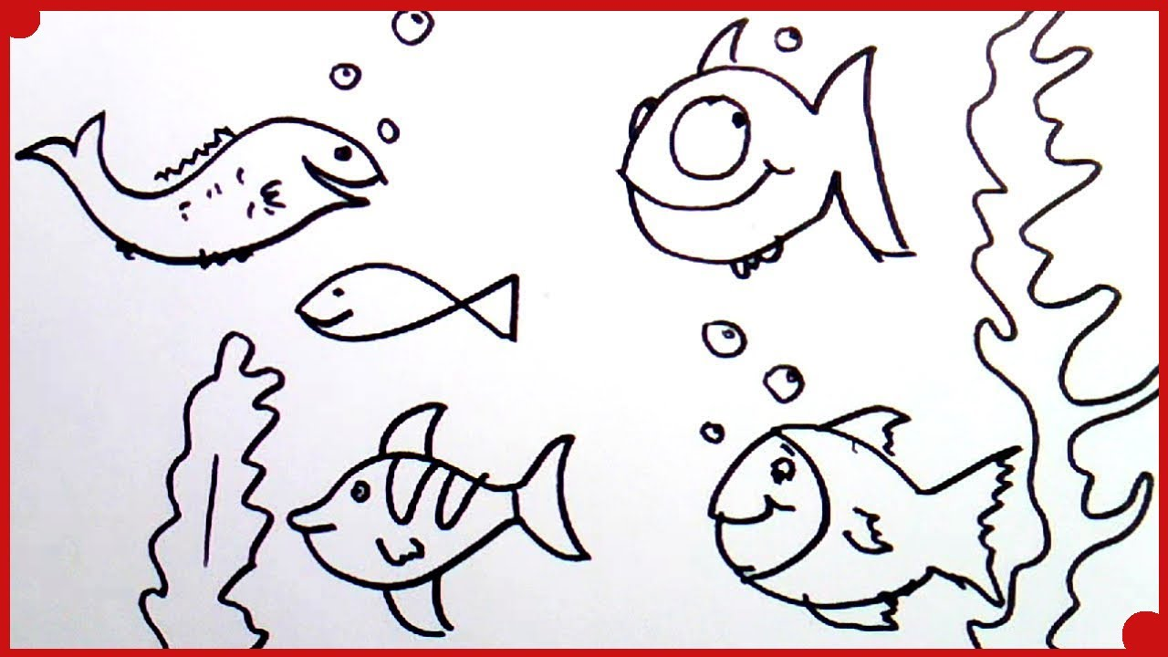 Como Dibujar un Pez muy fcil  how to draw fish very easy  YouTube