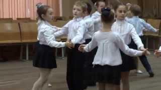 Открытый урок по бальным танцам. 271 гимназия. 1 класс