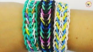 Браслет крючком из резинок Rainbow Loom - Легкий, простой и красивый!