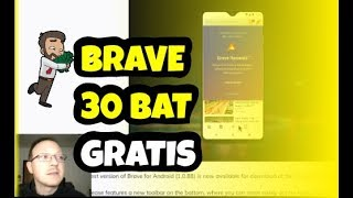 🎁️ Brave, regala 30 BAT e permette di monetizzare da mobile integrando il wallet