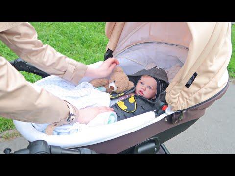 Прогулка С Коляской В Парке с Реборном/Гуляем с Сашей на Улице, Укладываем спать/Reborn Baby Doll