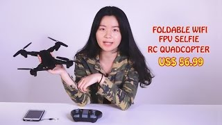 VISUO XS809W 2.4G Foldable RC Quadcopter with Wifi FPV Selfie available