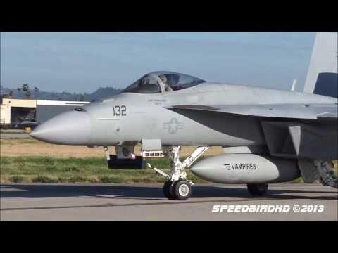 Boeing F/A-18E Super Hornet 'VX-9 Vampires' at Van Nuys Airport [FULL HD VIDEO]