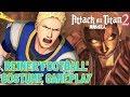 Attack on Titan 2 - DLC Reiner 'American Football' Costume - Prototype Bomb Gear Gameplay