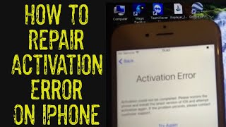 How To: Repair Activation Error on iPhone