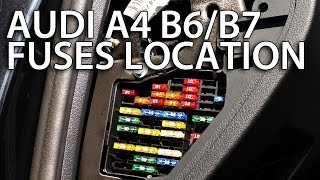 Where are cabin fuses in Audi A4 B6 / B7