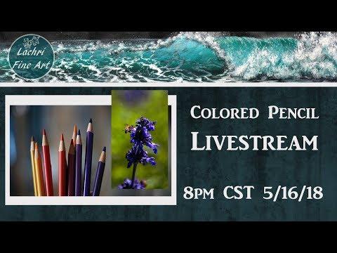 Colored Pencil & Art Chat Livestream - Lachri