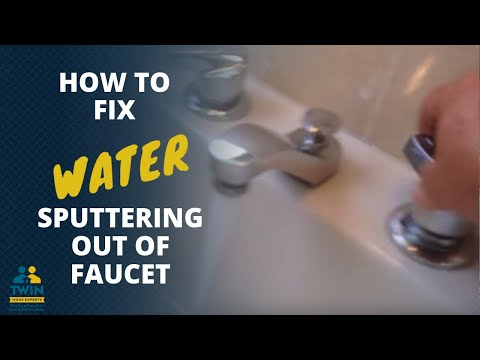 Water Sputtering Out of Faucets - YouTube