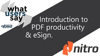 introduction to PDF productivity & eSigning