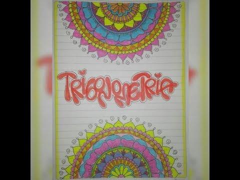 como marcar los cuadernos ( area de trigonometria ) YouTube