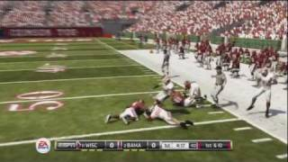 NCAA Football 12 Gameplay - Alabama vs Wisconsin