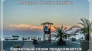 Сочи Бархатный сезон. Купаюсь в Море 1 ноября. Погода в Сочи. Пляж ривьера