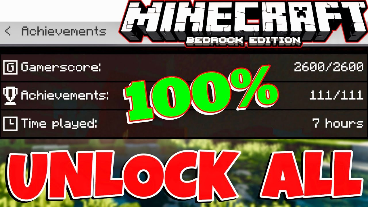 Minecraft PE 1.16.1+ ACHIEVEMENT HACK (Unlock All Achievements Fast! GET NEW EMOTES)