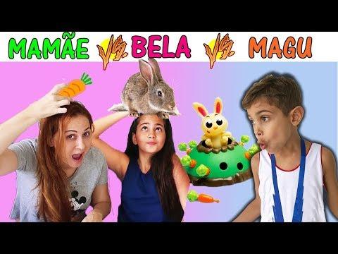 JOGANDO JOGO Bela Bagunça X Mamãe X Magu - Desafio Brinquedo Família BRINCANDO com a BELA Portugues
