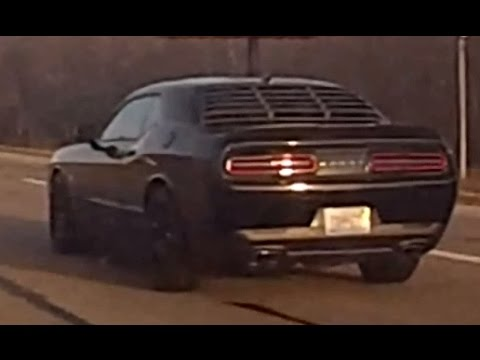 Nice Black Dodge Challenger Driving Towards Peoria On
