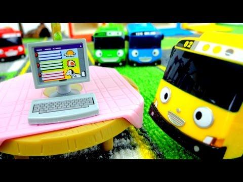 Мультики про машинки: Автобус Тайо! Тест. Игрушки из мультфильма