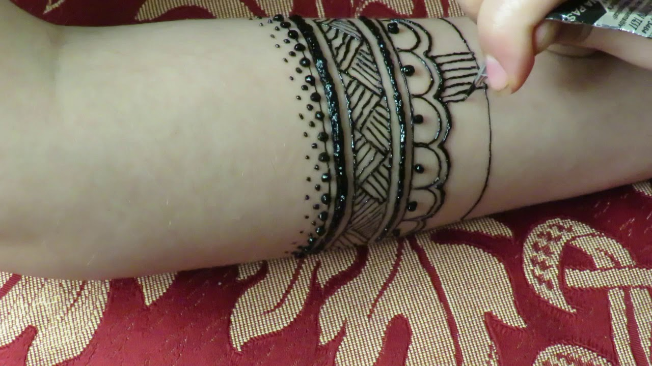 Easy Tribal Henna Design On Arm 2018 Tribal Tattoo Youtube