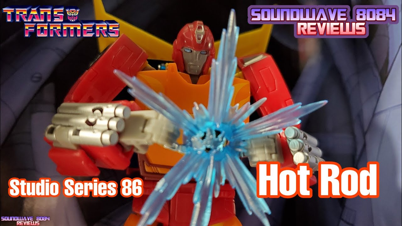 Transformers Studio Series 86 Hot Rod Review by Soundwave 8084
