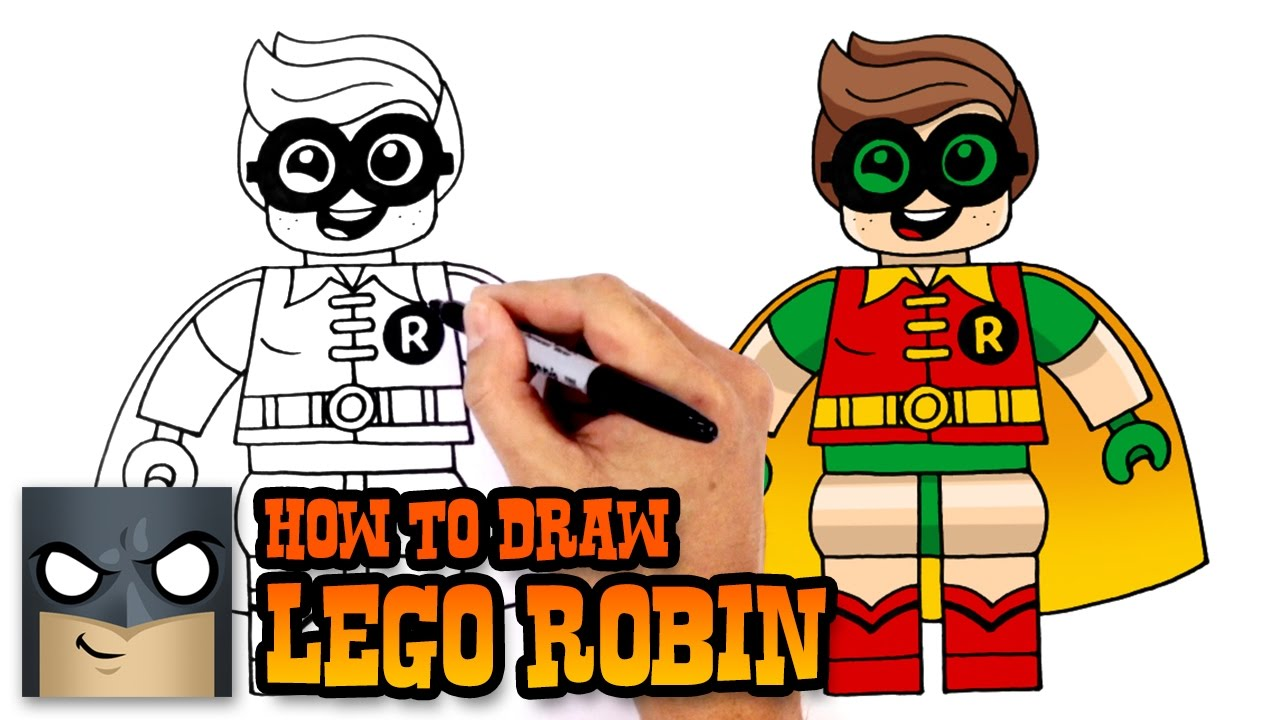 How to draw lego robin lego batman movie youtube