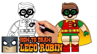 How to Draw Lego Robin | Lego Batman Movie