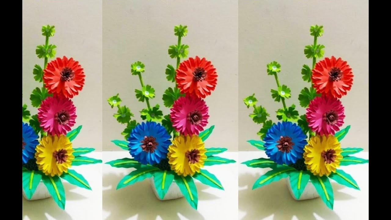 How To Make Beautiful Paper Flower Handmade Things With Paper