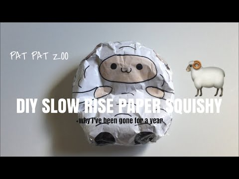 DIY Slow Rise paper squishy (updated) + why i've been gone for a year (read desc) | Ketchup DIY