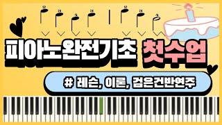 피아노기초 1강 손가락번호 음표 검은건반연주
