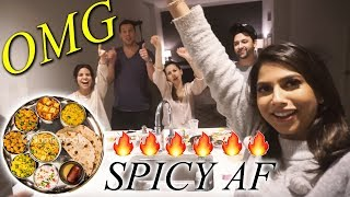 Non-Indians try INDIAN Food for the First Time!