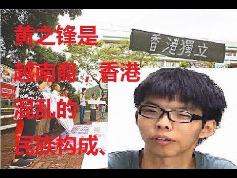 黄之锋是越南裔,香港百万越南难民不忘本与越南反华势力遥相呼应。再加上印度、东南亚、白人和英国海外居民,香港三分之一人口是反华的。