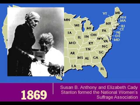 History of Women's Rights 1848 -  1920