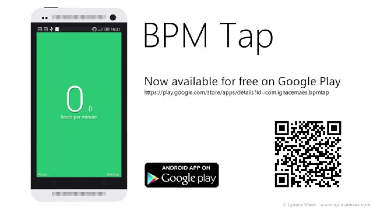Android app: BPM Tap - Measure your heart rate or a songs rhythm in BPM