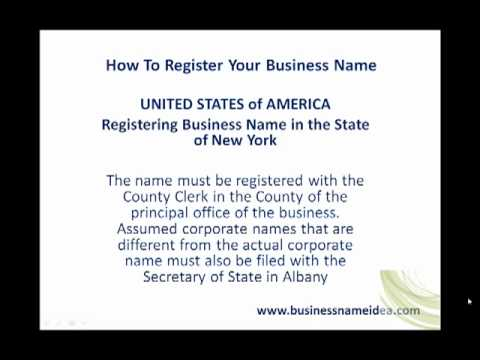 Registering business name in the State of Nevada