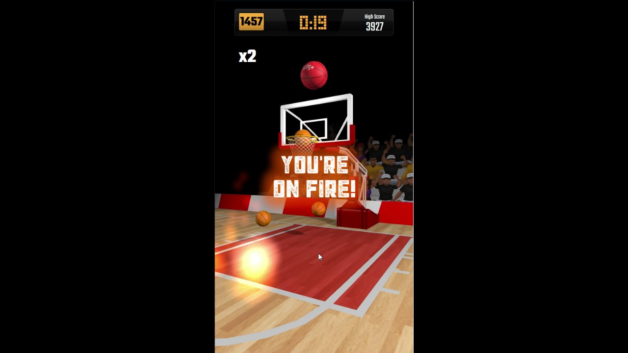 high score on hoops against friends 4793 the addictive basketball
