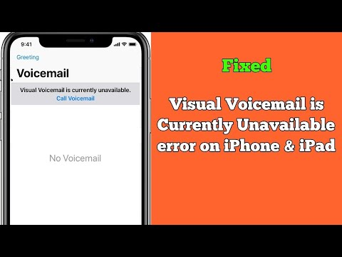 Visual Voicemail Is Currently Unavailable Error On IPhone 7, 8, X, XR, XS Max & 11 Pro Max IOS 13