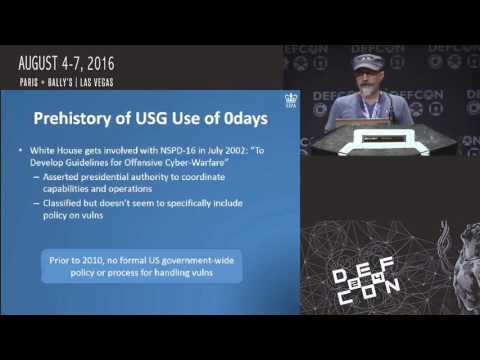 DEF CON 24 - Jay Healey - Feds and 0Days: From Before Heartb