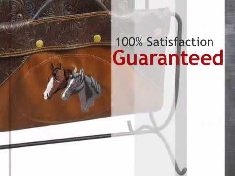 Embroidered Horse Magazine Rack - lonestarwesterndecor.com