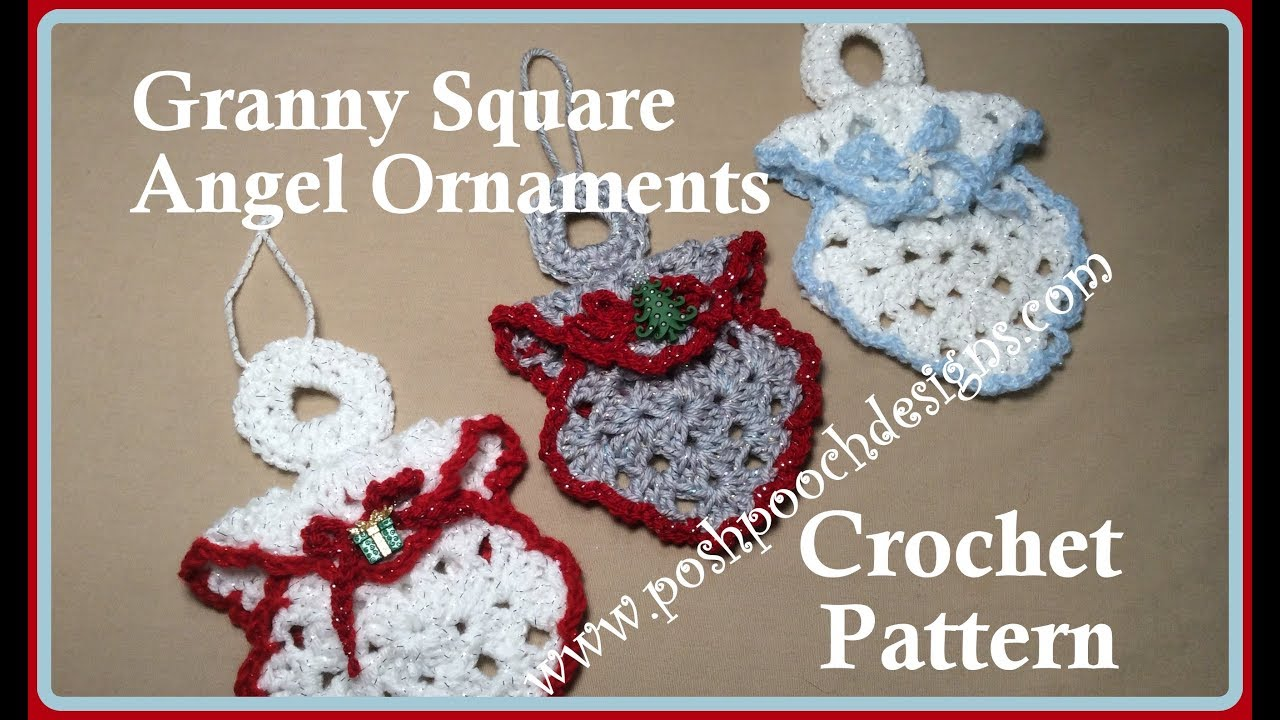 granny square angel ornament crochet pattern - Crochet Angel Christmas Tree Decorations