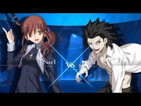 "[MELTY BLOOD: TYPE LUMINA ""Noel VS Roa"" Gameplay Video ①]"