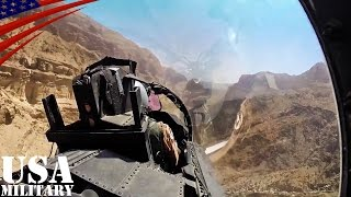 F-15戦闘機・低空飛行で渓谷攻め コックピット映像 - F-15 Fighter Jet Low-level Canyon Flying Cockpit View