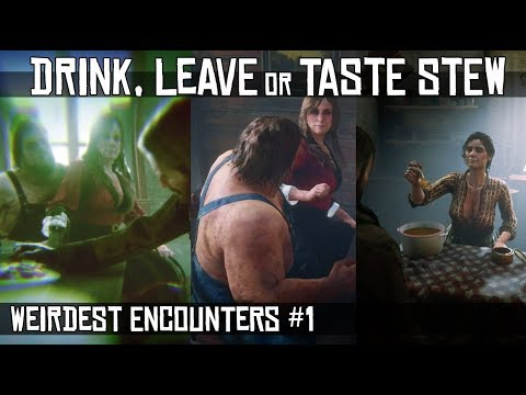 What Happens If You Drink VS Leave VS Taste Stew - Aberdeen Pig Farm (Weirdest Encounters #1) RDR2