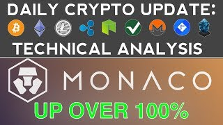 MONACO UP OVER 100% (12/4/17) Daily Crypto Update + Technical Analysis