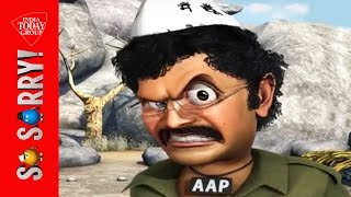 So Sorry : Watch Kejriwal as Gabbar Singh in