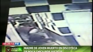 Madre de joven muerto en discoteca de Boca Chica pide justicia