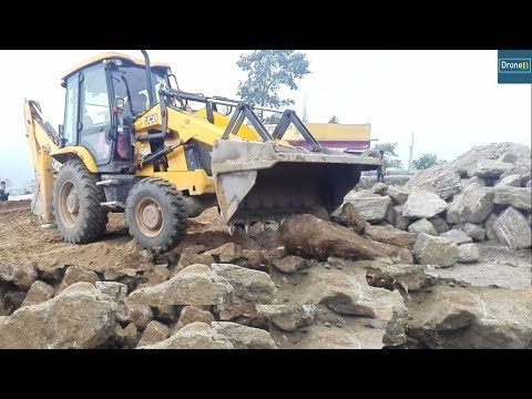 JCB Dozer Collects Scattered Stones JCB Dozer Video